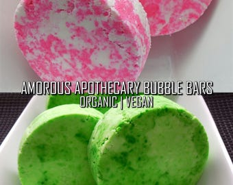 Amorus Apothecary Bubble Bars | Pure Vegan 5 oz. Coco Chanel/Cucumber-Mint Scented Marbled Luxury Solid Bubble Bath with Sweet Almond Oil