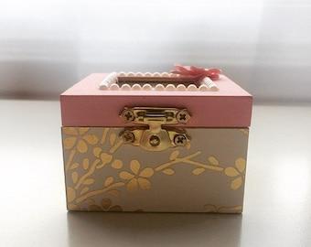 Any Sorority, Pink Blossoms: Sorority pin box, Handmade, Choose any Sorority