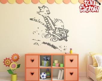 Calvin U0026 Hobbes Wall Decal Kids Boy Girl Nursery Room Sticker Design, Wall  Mural, Part 53