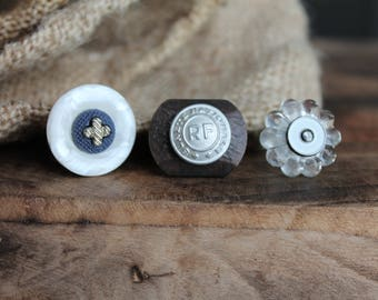 Fancy ring for women, women's jewelry, ring old button, gift MOM, mother's day gift for her, gift
