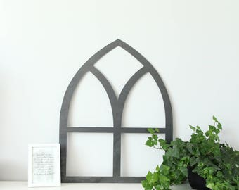 Metal Window Frame  |  rustic farmhouse chic metal wall decor