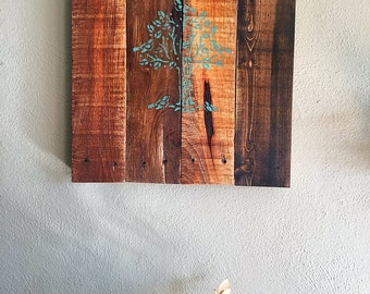 Reclaimed wood pallet sign