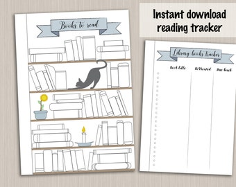 Bullet journal template : reading planner template reading log tracker - bujo bullet journal pages - bullet journal printable insert