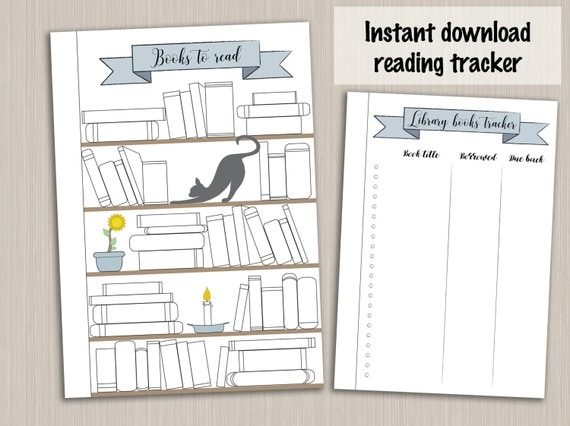Bullet Journal Template : Reading Planner Template Reading Log