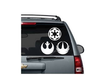 Star Wars Vinyl Decal - Rebel Alliance, The Empire/Imperial Crest, Rogue One Logo