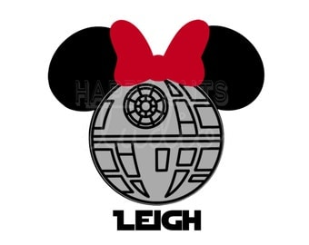 Personalized Death Star Wars Mickey Minnie Mouse Matching Family Disney World Father Son Vacation Disney Iron On Decal Vinyl for Shirt 042