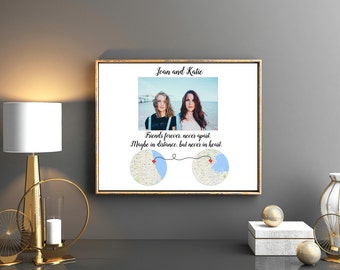 Best friend gift Gift for her Best friend long distance Best friend moving away gift Brother gift Sister gift Going away gift Unique gift