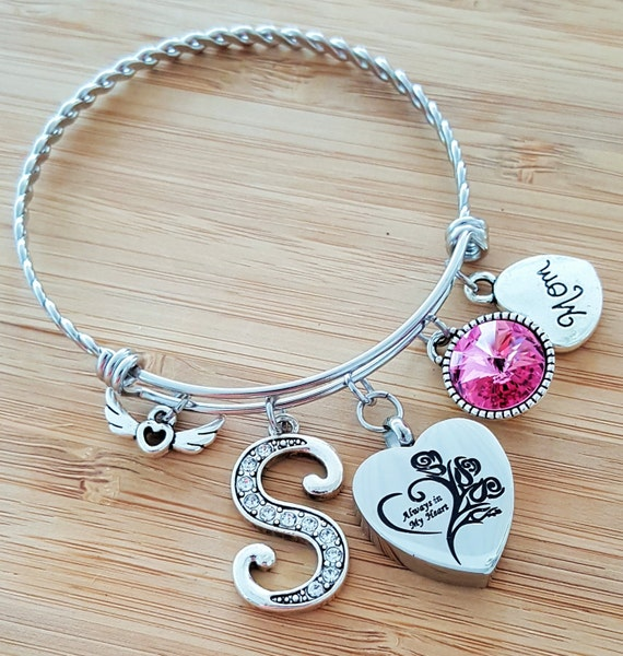 Urn Bracelet Urn Jewelry Sympathy Bracelet Sympathy Gift In Memory of Mom Memorial Bracelet Loss of Mother Loss of Mom Remembrance Bracelet