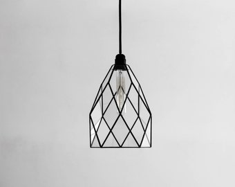 Kitchen Flower Geometric Glass Chandelier / Warm Vintage Bulb / Geometric Pendant Light / Industrial Style Hanging Lamp / Modern Lighting