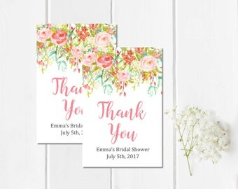 Thank you favor tags etsy negle Choice Image