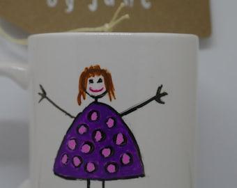 World's best mum, hand painted mugs