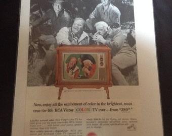Ets-15 vintage RCA Victor tv ad, Bonanza 1965