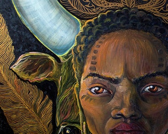 The African lady / PRINT ethnic / Home Decor