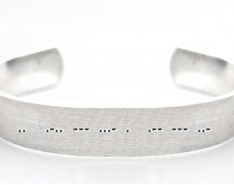 Customisable bracelet- morse code bracelet- custom bracelet- personalised bracelet- hand stamped bracelet- secret message