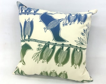 Cushion Cover - Fruit Bats Design by Selina Nadjowh
