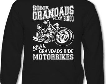 Some Grandads Play Bingo - Mens Funny Motorbike Hoodie Father's Day