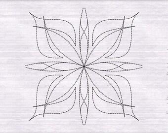 Quilt Block Machine Embroidery Design