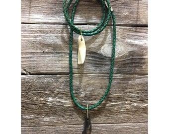 Lucky Buffalo Tooth Choker//Necklace//convertible to bracelet