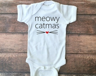 Meowy Catmas Bodysuit or Toddler Tee