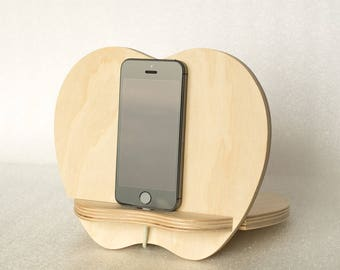 Father's Day Gifts, Personalized Men Gifts, Wooden phone stand, Phone dock, Docking stating, iPhone charging station, Boyfriend gifts, Men