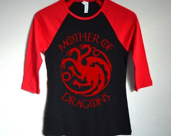 Mother of Dragons Raglan Baseball T-Shirt - Game of Thrones - Khaleesi