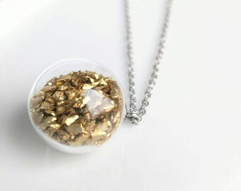 Glass bubble necklace. Glass ball necklace. Bubble necklace. Long necklace. Rose gold necklace. Gold necklace. Silver necklace.