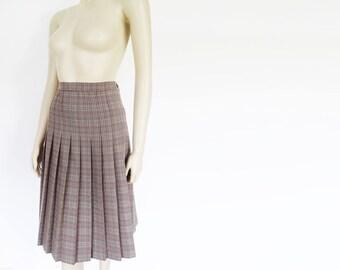 Vintage Skirt, UK14, Pleated Midi Skirt, Grandma, Tweed Skirt, Boho Skirt, Secretary Skirt, Pleated Skirt, Formal, Ladies Clothing, 1990s