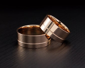 wide wedding bands classic wedding rings traditional band set couple gold rings