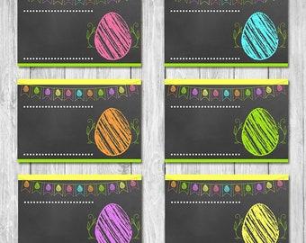 Easter Egg Food Tents | Chalkboard | Easter Party Food Labels | Easter Egg Hunt Party Food Tents | Easter Brunch Placecards Easter Egg Hunt
