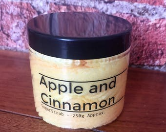Apple and Cinnamon Sugar Scrub // Vegan // Handmade //