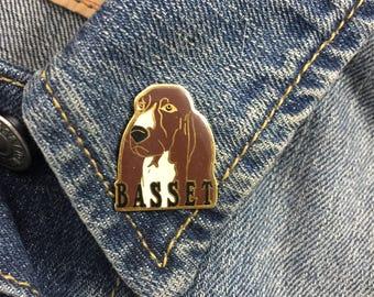 Vintage Basset Hound Dog Pin (stock# 784)