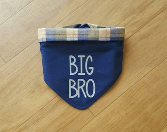 Pregnancy Announcement Dog Bandana |  Personalized Dog Bandana | Baby Reveal | Photo Prop | Dog Accessories | Snap Bandana | Big Brother