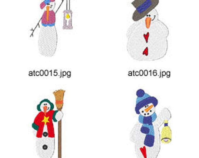 Snowmen-1 ( 7 Machine Embroidery Designs from ATW )
