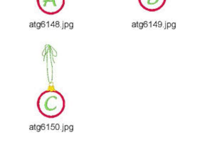 Ornament-Applique-Alphabet ( 26 Machine Embroidery Designs from ATW ) XYZ17E