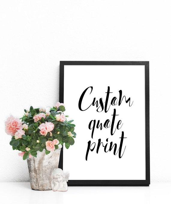 Custom Word Art Print Home Wall Decor Motivational Quotes