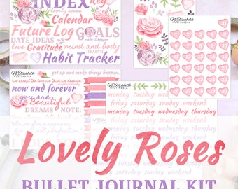 Lovely Roses - Bullet Journal Kit