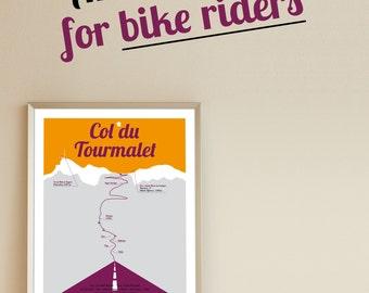 Poster Col du Tourmalet Tour de France A3