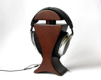 Stand for headphones from wood oak