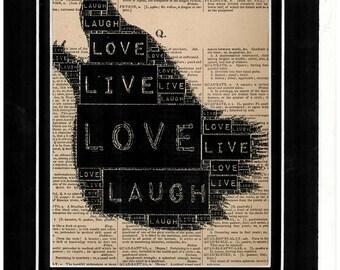 Typography dictionary art
