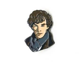 Sherlock Holmes Enamel Pin