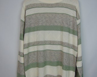 Vintage White/Grey/Green Jumper