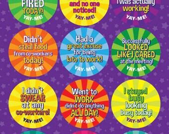 Yay-Me Adult Reward Stickers - WORK 2