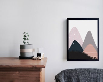 Illustrated Nursery Art Print - Mountain no. 2