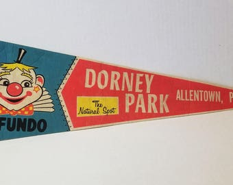 Dorney Park, Allentown, Pennsylvania - Vintage Pennant