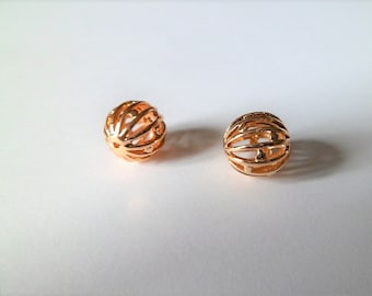 Pearls spheres balls filigree gold plated