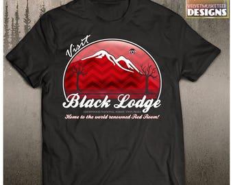 Twin Peaks inspired shirt/ visit Black LodgeT shirt/ twinpeaks / David Lynch fan gift/ unisex adult shirt