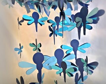 Dragonfly Mobile -  Nursery Decor, Nursery Mobile, Boy Nursery Mobile, Baby Girl Mobile, Cot Mobile, Handmade Baby Mobile, Baby Shower Gift