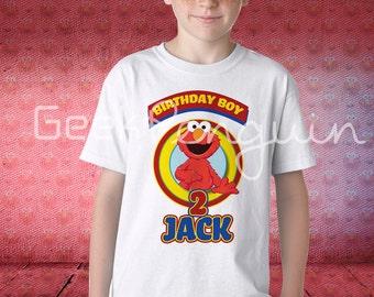 Elmo birthday shirt, sesame street shirt, family matching shirts, Elmo sesame street birthday party shirt, Elmo sesame street family