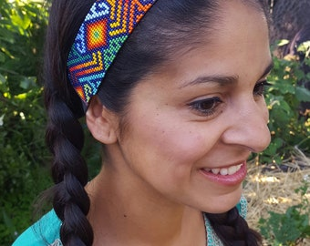 Beaded Headband - Sun and Rainbow (Colombia)