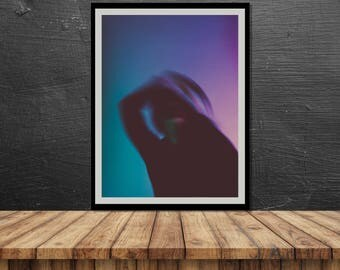 Blurred 3 // Poster, Photography, Model, Abstract, Motion, Pastel, Colours, Print, Wall Decor, Home Decor, Studio, Unique, Berlin, dance